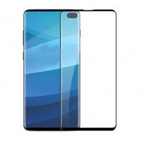 Защитное стекло для Samsung Galaxy S10 на дисплей, 4D, с отпечатком, черный