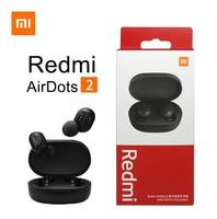 Гарнитура беспроводная, Xiaomi Redmi AirDots 2, Bluetooth, микрофон, черный