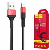 Кабель для iPhone 8pin, Hoco X26 Xpress, 1м, черный, красный