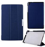 Чехол Smart-case для Lenovo Tab S8-50 полиуретан, темно-синий