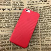 Чехол-накладка на Apple iPhone 7/8 Plus, силикон, карбон, красный