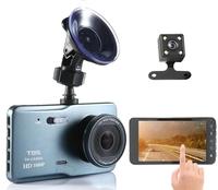 """Видеорегистраторы с камерой заднего вида TDS TS-CAR06(CVR01), FHD, 4"""" сенсор, черный"""
