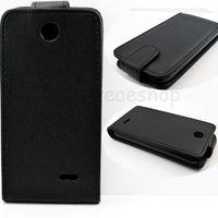 Флип-кейс на HTC Desire 310 кожа, черный
