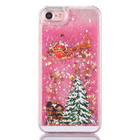 Чехол-накладка на Apple iPhone 6/6S, пластик, плавающие звезды, розовый
