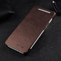 Чехол-книжка на HTC One M7 полиуретан, коричневый
