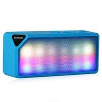 Портативная колонка, X3S, Bluetooth, USB, FM, AUX, microSD,  подсветка, синий