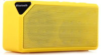 Портативная колонка, X3, Bluetooth, USB, FM, AUX, microSD, BL-5C, желтый