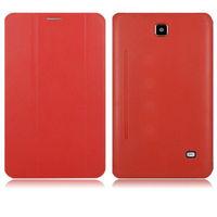 Чехол Smart-cover для Samsung Galaxy Tab 4 7.0, полиуретан, красный