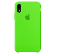 Чехол-накладка на Apple iPhone XR, силикон, original design, микрофибра, с лого, ярко-зеленый