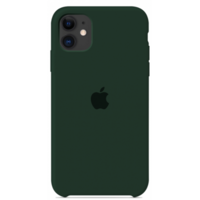 Чехол-накладка на Apple iPhone XR, силикон, original design, микрофибра, с лого, темный изумруд