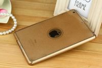Чехол-накладка для Apple iPad mini 1,2,3, силикон, блестящий, золотистый