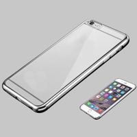 Чехол-накладка на Apple iPhone 6/6S, силикон, бампер, серебристый