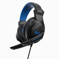 Гарнитура проводная, 3,5мм, игровая, Smart Buy RUSH BEAT'EM, полноразмерная, черный, синий