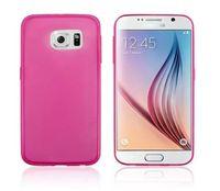 Чехол-накладка на Samsung S6 силикон, глянцевый, розовый