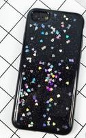 Чехол-накладка на Apple iPhone 6/6S, силикон, блестящий, гель, черный
