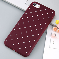 Чехол-накладка на Apple iPhone 7/8 Plus, силикон, dot, бордовый