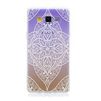 Чехол-накладка на Samsung A5 силикон, ультратонкий, узор, градиент