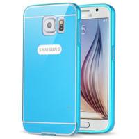 Чехол-накладка на Samsung A5 алюминий, голубой