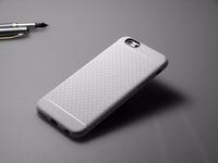 Чехол-накладка на Apple iPhone 6/6S, силикон, матовый, текстура, белый