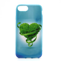 Чехол-накладка на Apple iPhone 7/8, силикон, colorfull, green heart