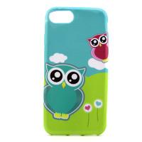 Чехол-накладка на Apple iPhone 7/8, силикон, colorfull, owls