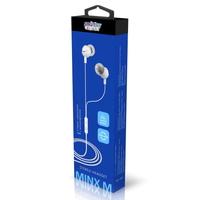 Гарнитура проводная, 3,5мм, Smart Buy Minx M, вакуумная, 1.2 м, белый