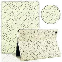 Чехол Smart-cover для Apple iPad Air, кожа, стразы, бежевый
