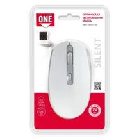 Мышь беспроводная, Smart Buy 280AG, оптическая, 3кн, бесшумная, белый
