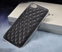 Чехол-накладка на Apple iPhone 4/4S, пластик, кожа, сетка, черный