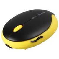 Мышь беспроводная, Smart Buy 520AG Spoon, оптическая, 3кн, черно-желтый