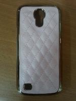 Чехол-накладка на Samsung S4 mini кожа, сетка, розовый