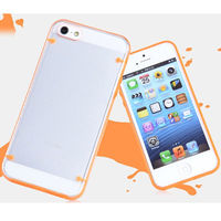 Чехол-накладка на Apple iPhone 5/5S, пластик, оранжевый, флюорисцентный