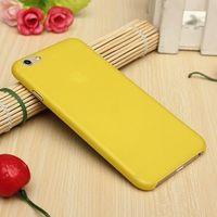 Чехол-накладка на Apple iPhone 6/6S, пластик, тонкий, матовый, желтый