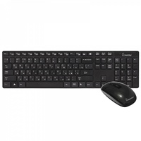 Набор беспроводной клавиатура + мышь, Smart Buy 215318AG-K, полноразмерная, черный