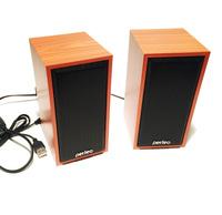 Активные колонки USB Perfeo Cabinet (F-84-WD), 2x3W, дерево светлый
