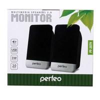Активные колонки 2.0, Perfeo Monitor (PF-2079), 2x1.5W, черный