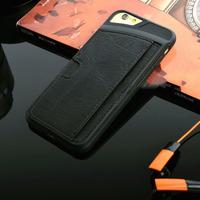 Чехол-накладка на Apple iPhone 4/4S, силикон, кожа, черный