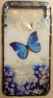 """Чехол-книжка универсальная, силик.бампер, S-view 5.0""""-5.2"""", цветной, butterfly"""