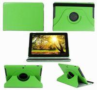 Чехол Smart-cover для Asus MeMO Pad 10 (ME301), 10'', кожа, вращащийся, зеленый