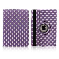 Чехол Smart-cover для Apple Ipad Air, полиуретан, в горошек, фиолетовый