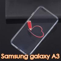 Чехол-накладка на Samsung A3 силикон, ультратонкий, сердце