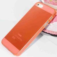 Чехол-накладка на Apple iPhone 4/4S, пластик, тонкий, матовый, оранжевый