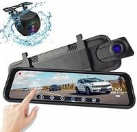 "Видеорегистратор зеркало с камерой заднего вида AZDOME PG02, FHD, 10.0"", GPS(опц.), сенсор"