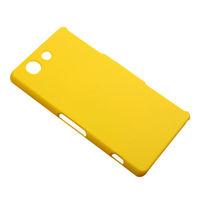 Чехол-накладка на Sony Xperia Z3 compact пластик, желтый