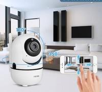 IP-камера Fuers, 720, Wi-Fi, microSD, вращение 360 гр, ночной режим, белый
