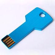 Память USB 2.0 Flash, ключ, голубой, 16 Gb