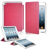 Чехол Smart-cover для Apple iPad mini 1,2,3, полиуретан, розовый