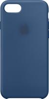 "Чехол-накладка на Apple iPhone 7/8 Plus, силикон, original design, микрофибра, с лого, ""морской"" син"