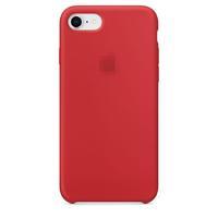 Чехол-накладка на Apple iPhone 7/8 Plus, силикон, original design, микрофибра, с лого, красный
