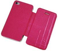 Чехол-книжка на Apple iPhone 4/4S, полиуретан, AG, розовый
